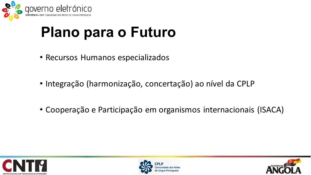 Plano para o Futuro Recursos Humanos especializados