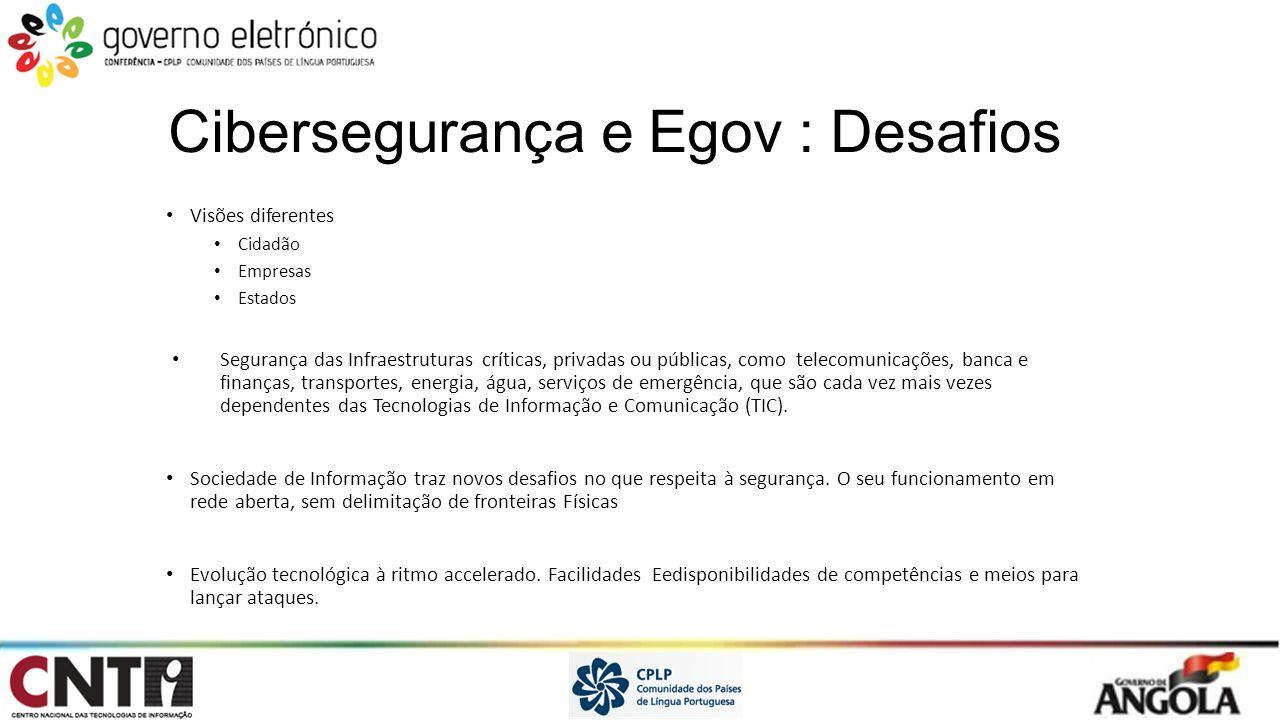 Cibersegurança e Egov : Desafios