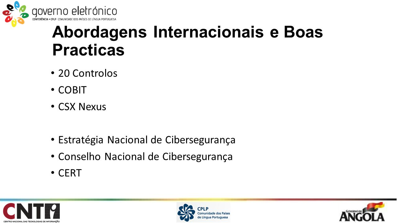Abordagens Internacionais e Boas Practicas