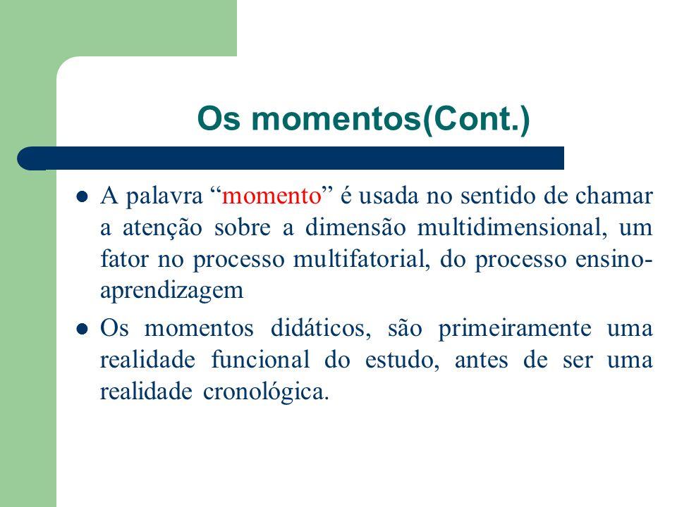 Os momentos(Cont.)