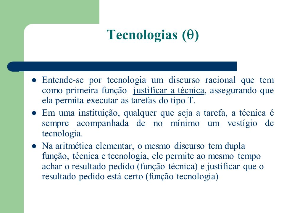 Tecnologias ()
