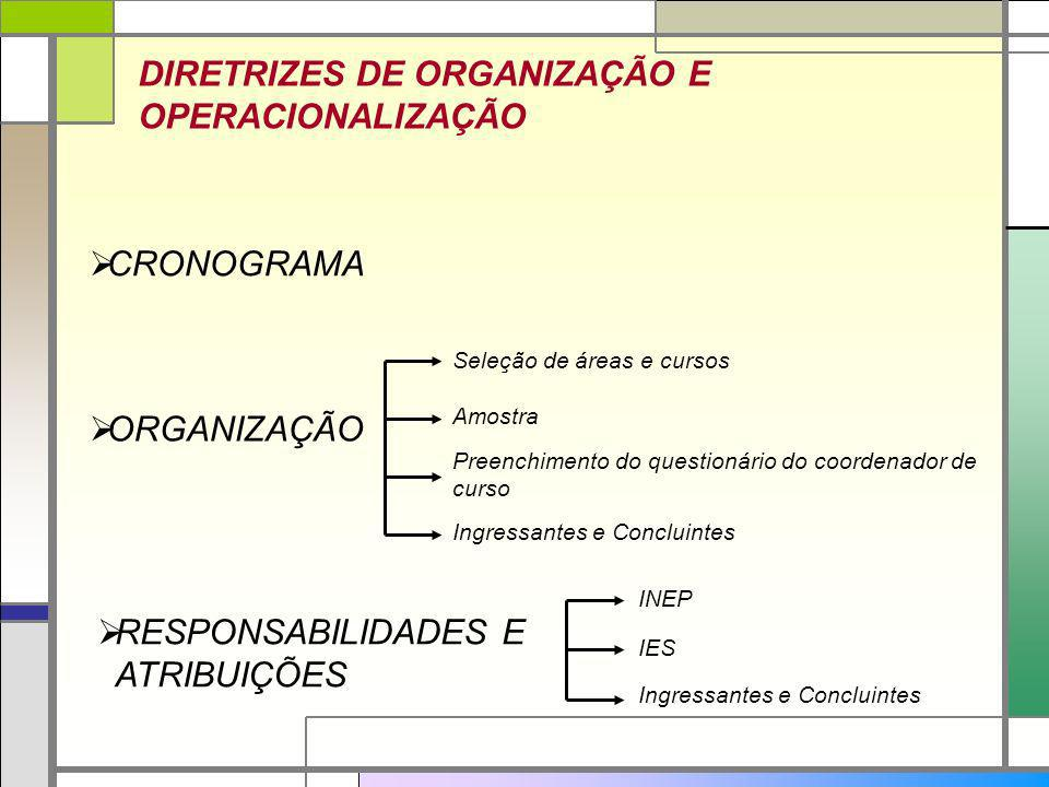 DIRETRIZES DE ORGANIZAÇÃO E OPERACIONALIZAÇÃO