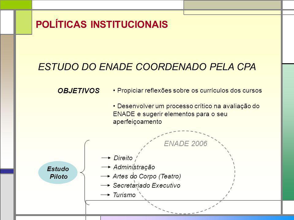 ESTUDO DO ENADE COORDENADO PELA CPA