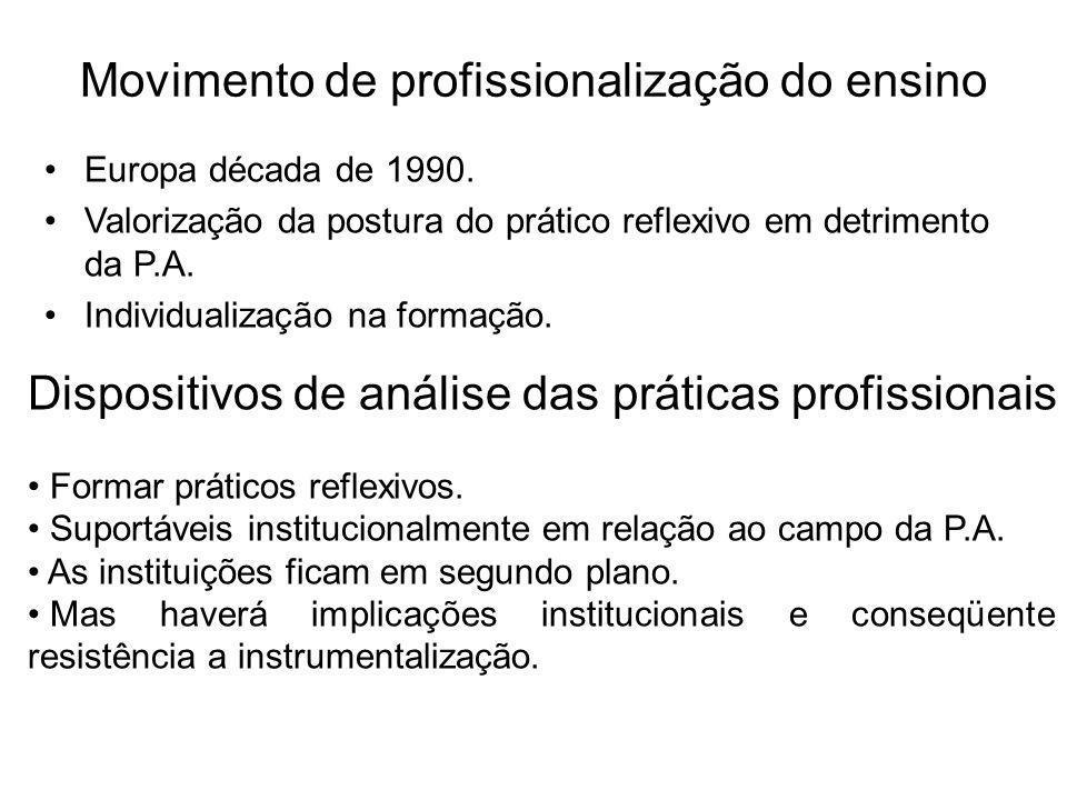 Movimento de profissionalização do ensino