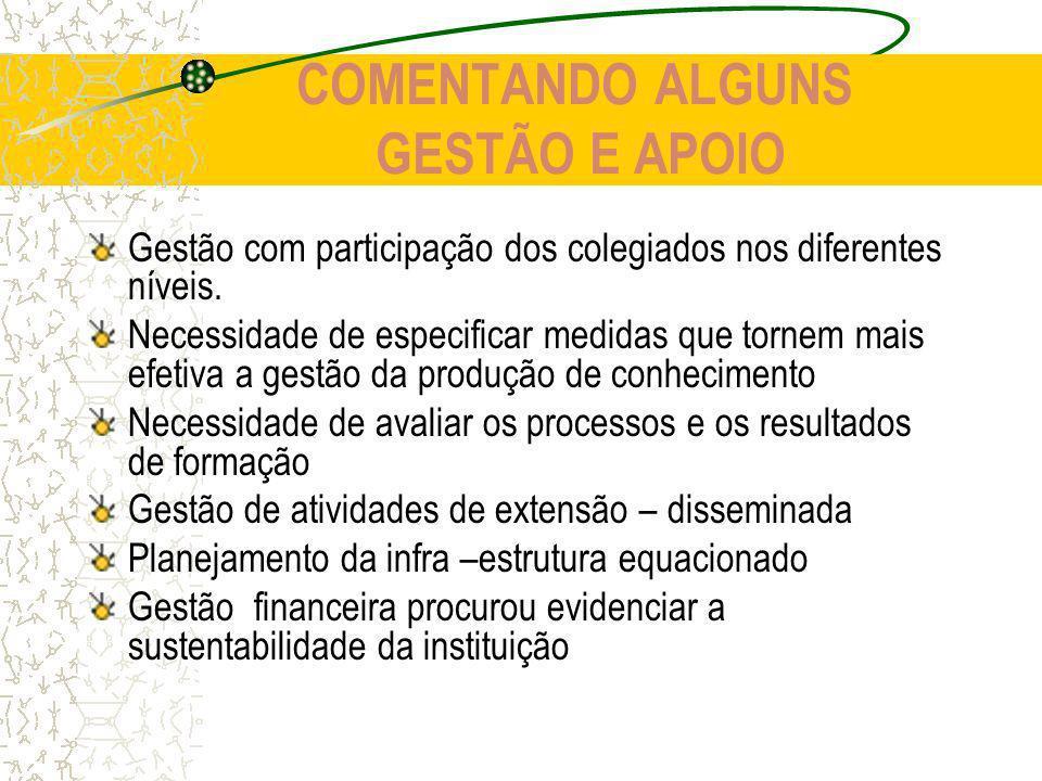 COMENTANDO ALGUNS GESTÃO E APOIO