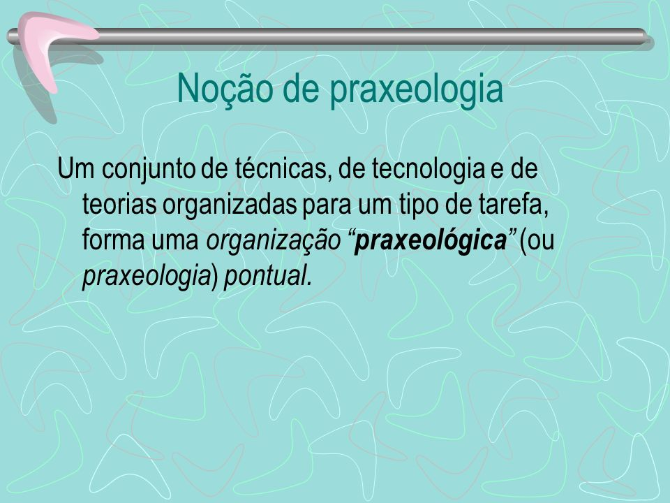 Noção de praxeologia