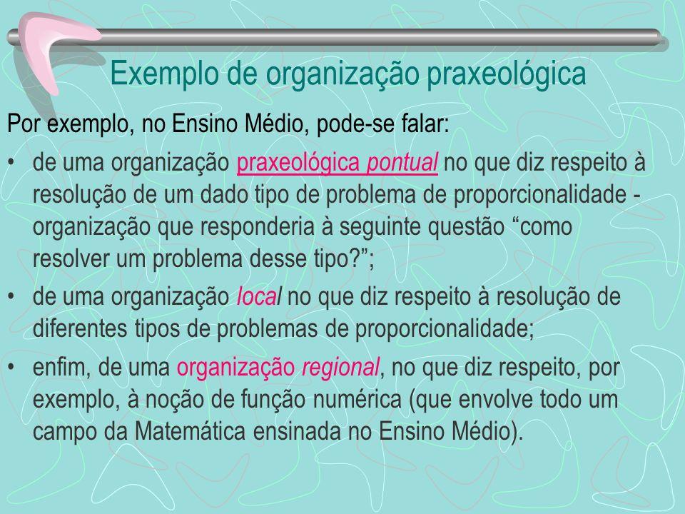 Exemplo de organização praxeológica