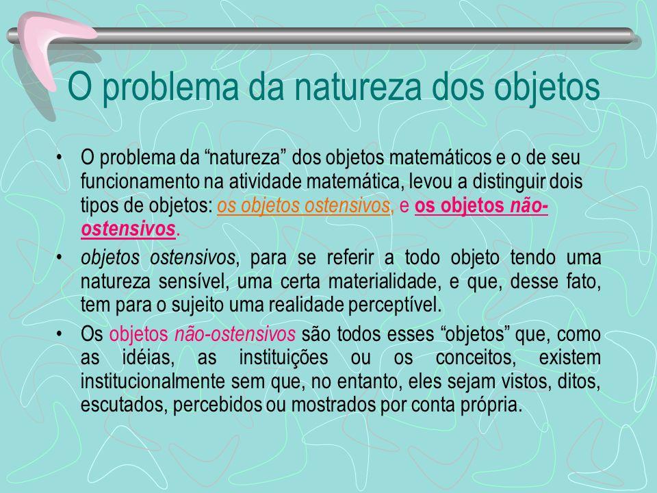 O problema da natureza dos objetos