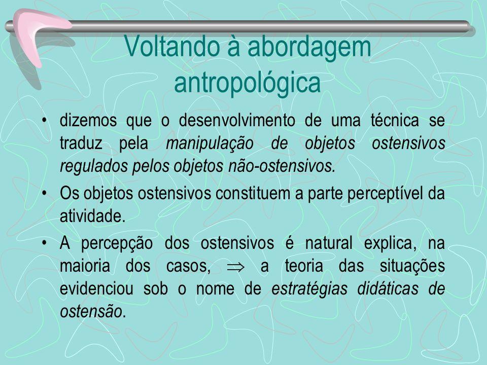 Voltando à abordagem antropológica