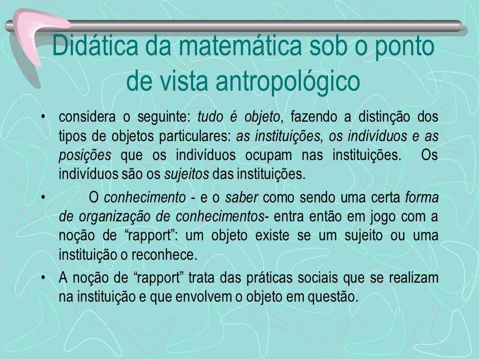 Didática da matemática sob o ponto de vista antropológico
