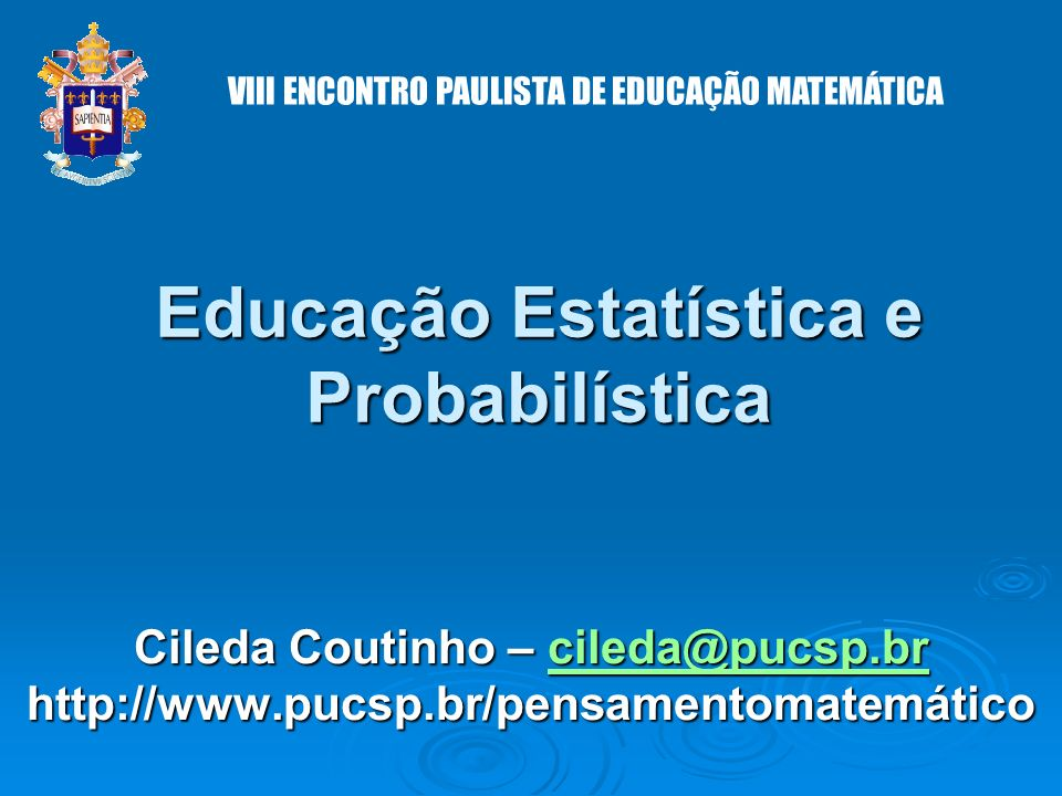 Educação Estatística e Probabilística