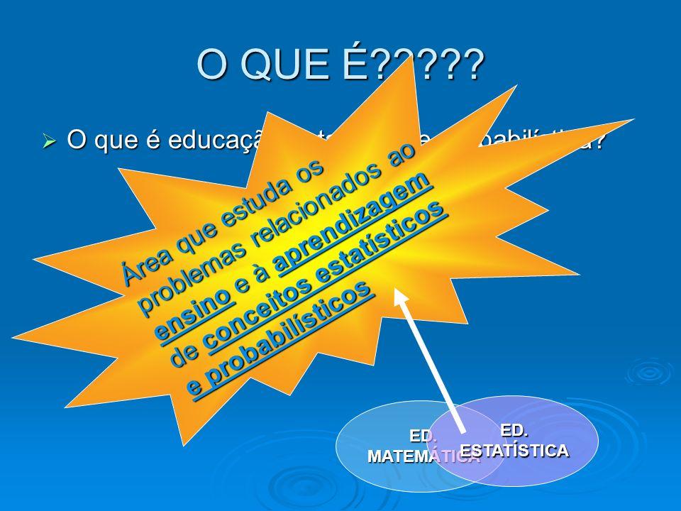 O QUE É O que é educação estatística e probabilística