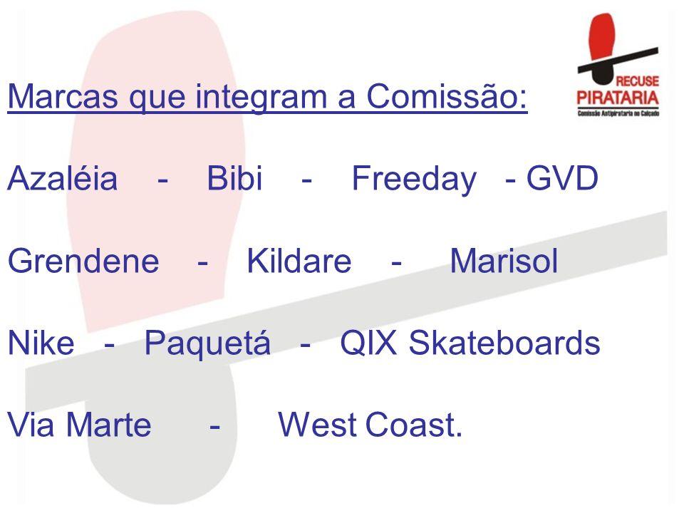 Marcas que integram a Comissão: