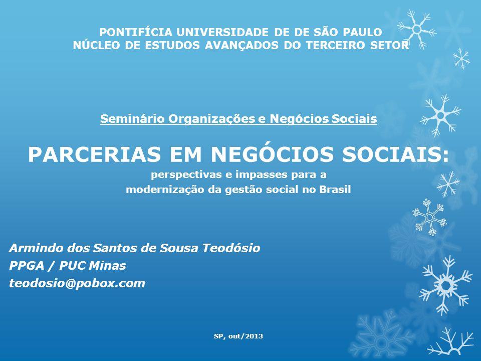 PARCERIAS EM NEGÓCIOS SOCIAIS: