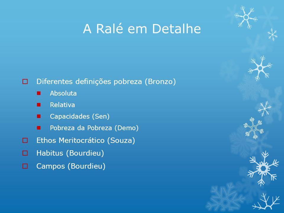 A Ralé em Detalhe Diferentes definições pobreza (Bronzo)