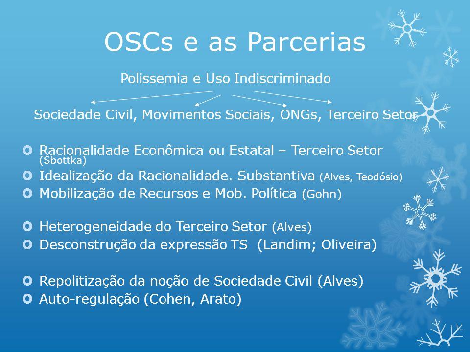 OSCs e as Parcerias Polissemia e Uso Indiscriminado