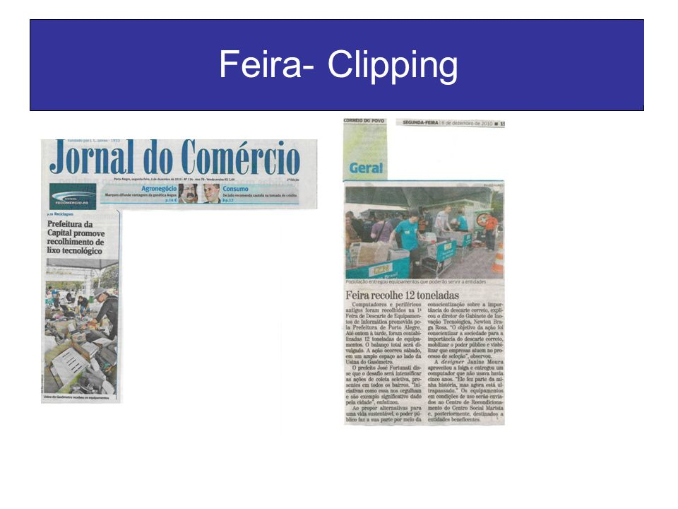 Feira- Clipping