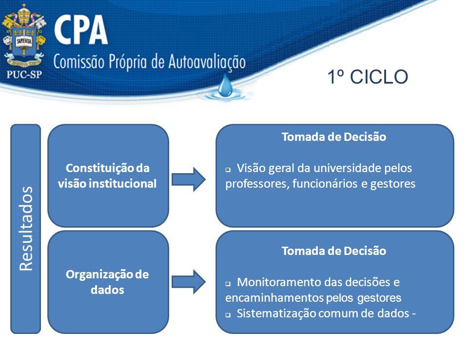 Constituição da visão institucional