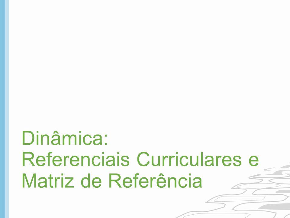 Dinâmica: Referenciais Curriculares e Matriz de Referência