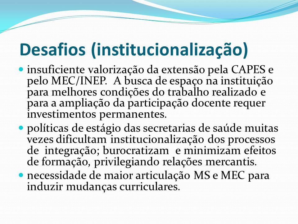 Desafios (institucionalização)