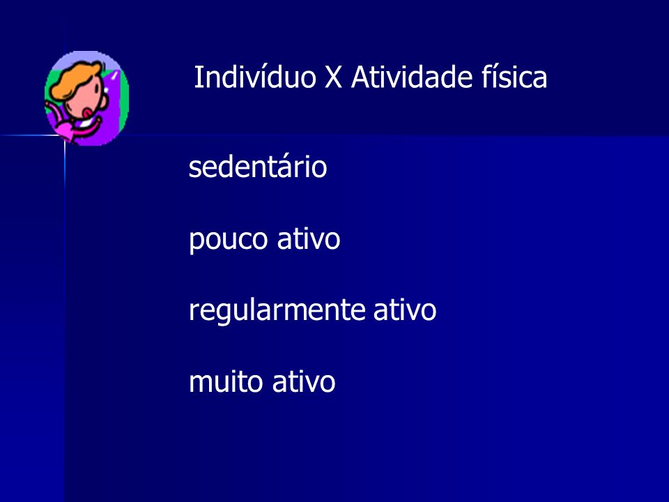 Indivíduo X Atividade física