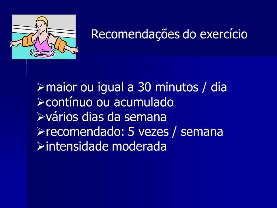Recomendações do exercício