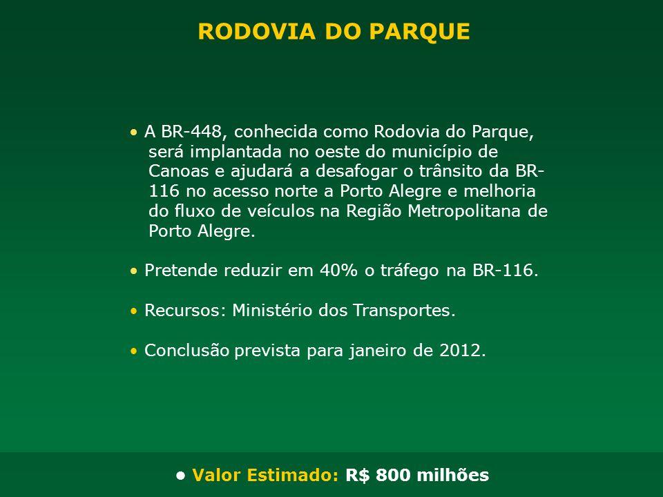 • Valor Estimado: R$ 800 milhões