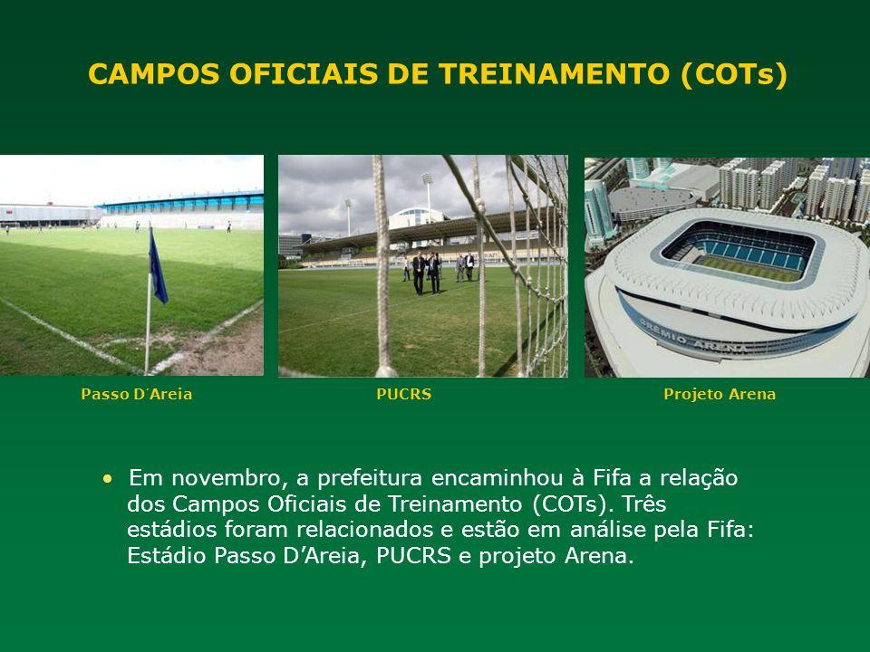 CAMPOS OFICIAIS DE TREINAMENTO (COTs)