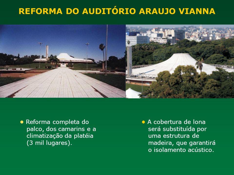REFORMA DO AUDITÓRIO ARAUJO VIANNA
