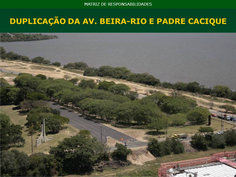 DUPLICAÇÃO DA AV. BEIRA-RIO E PADRE CACIQUE