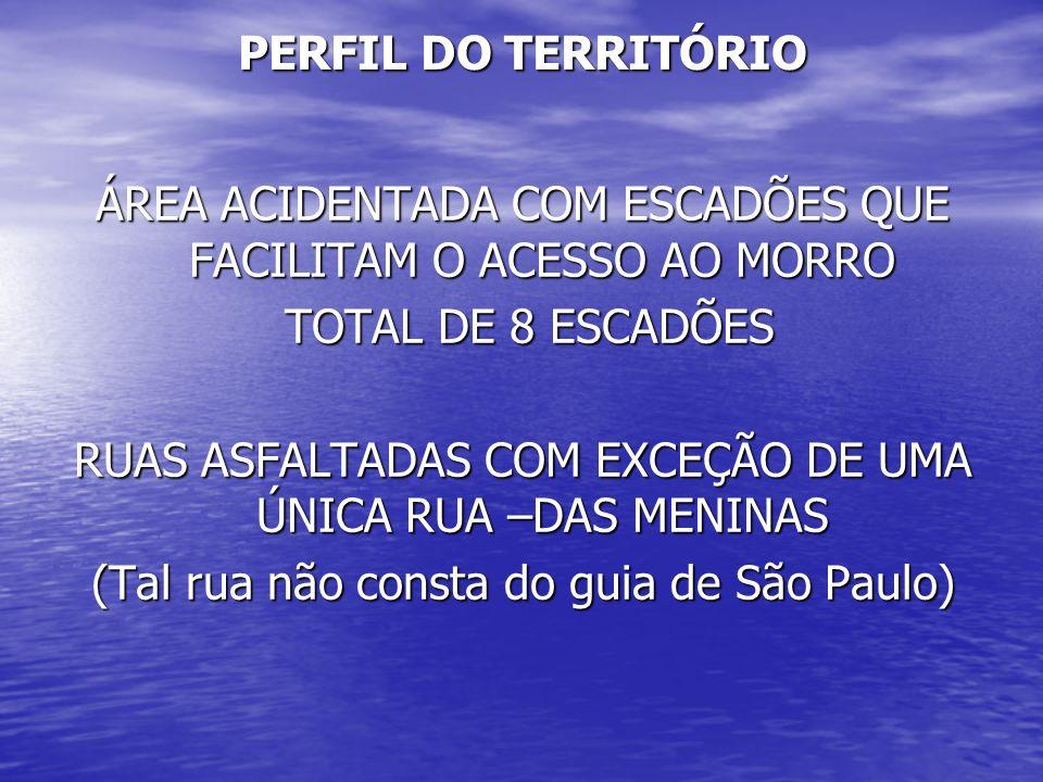 ÁREA ACIDENTADA COM ESCADÕES QUE FACILITAM O ACESSO AO MORRO