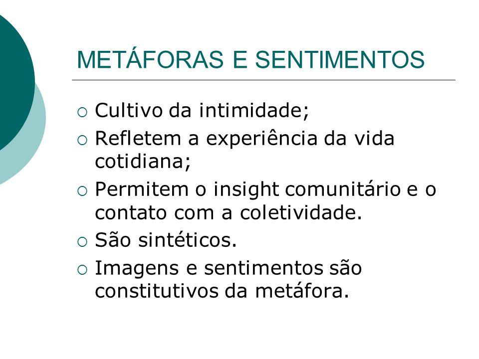 METÁFORAS E SENTIMENTOS