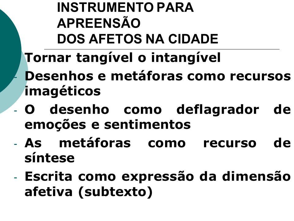 INSTRUMENTO PARA APREENSÃO DOS AFETOS NA CIDADE