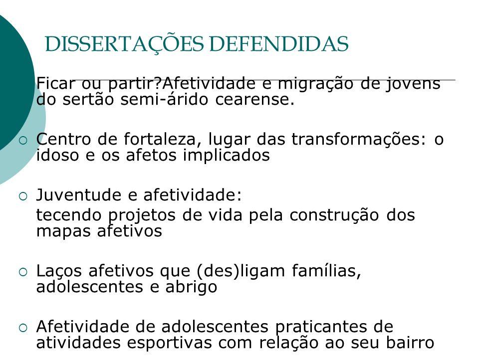 DISSERTAÇÕES DEFENDIDAS