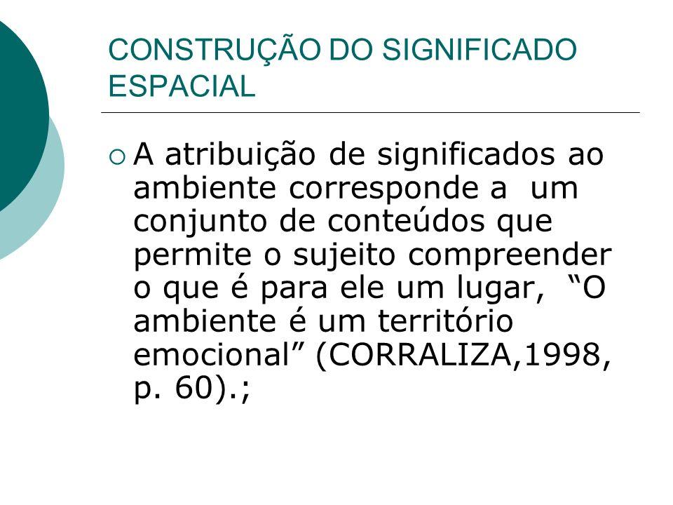 CONSTRUÇÃO DO SIGNIFICADO ESPACIAL