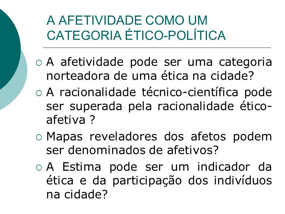 A AFETIVIDADE COMO UM CATEGORIA ÉTICO-POLÍTICA