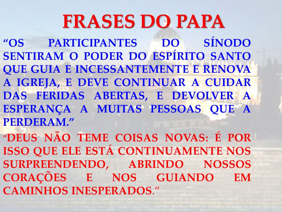 FRASES DO PAPA