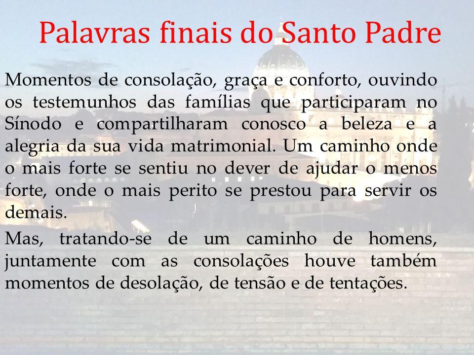 Palavras finais do Santo Padre