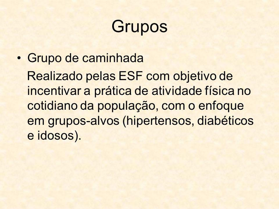 Grupos Grupo de caminhada