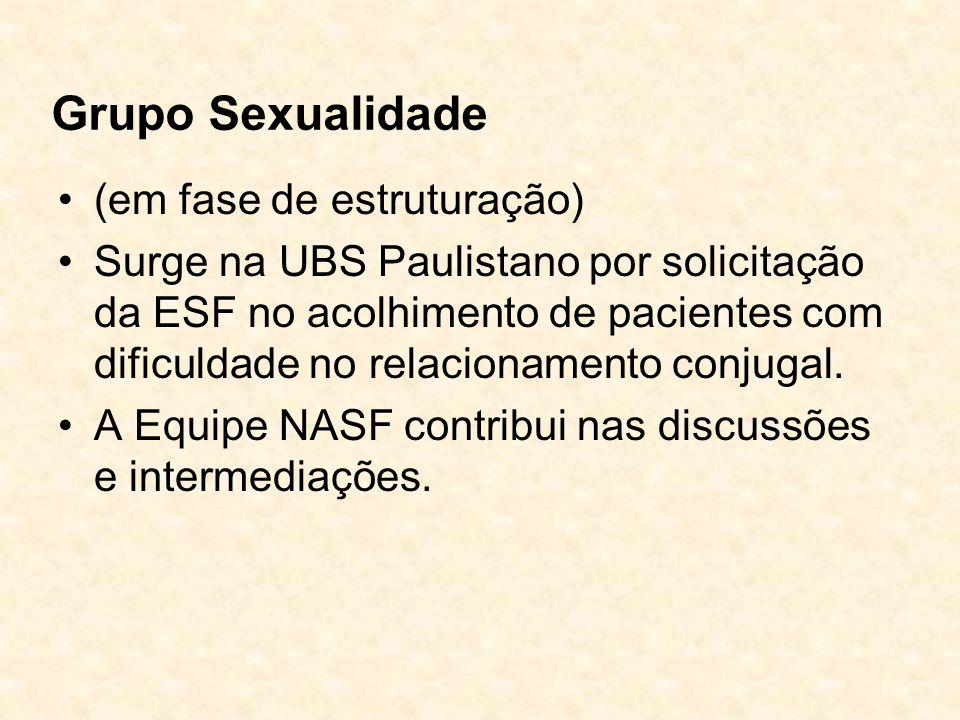 Grupo Sexualidade (em fase de estruturação)