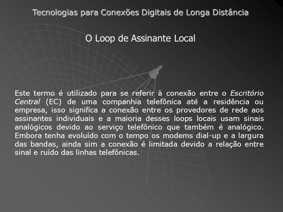 O Loop de Assinante Local