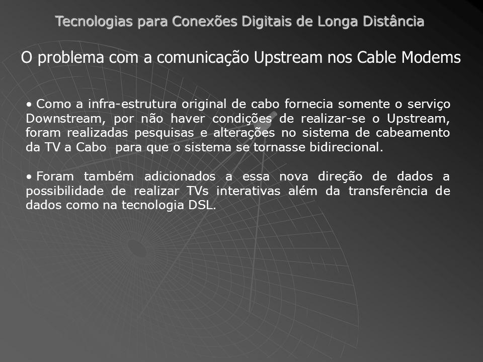 O problema com a comunicação Upstream nos Cable Modems