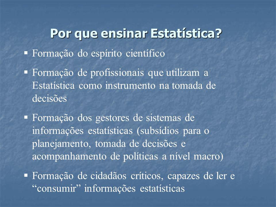 Por que ensinar Estatística