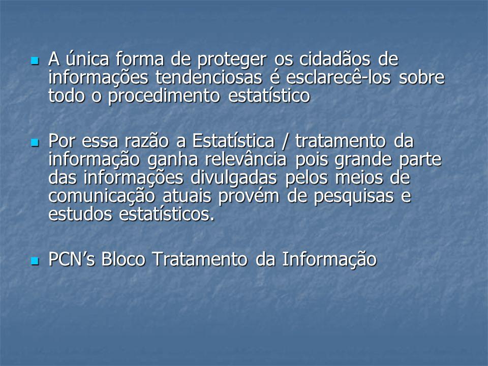 A única forma de proteger os cidadãos de informações tendenciosas é esclarecê-los sobre todo o procedimento estatístico