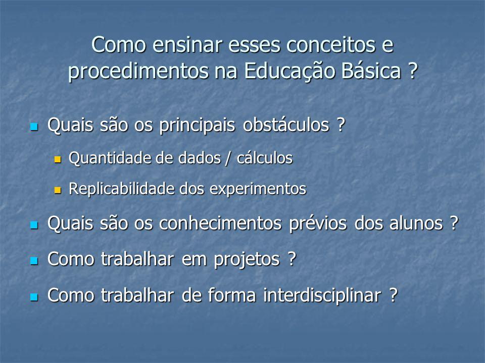 Como ensinar esses conceitos e procedimentos na Educação Básica