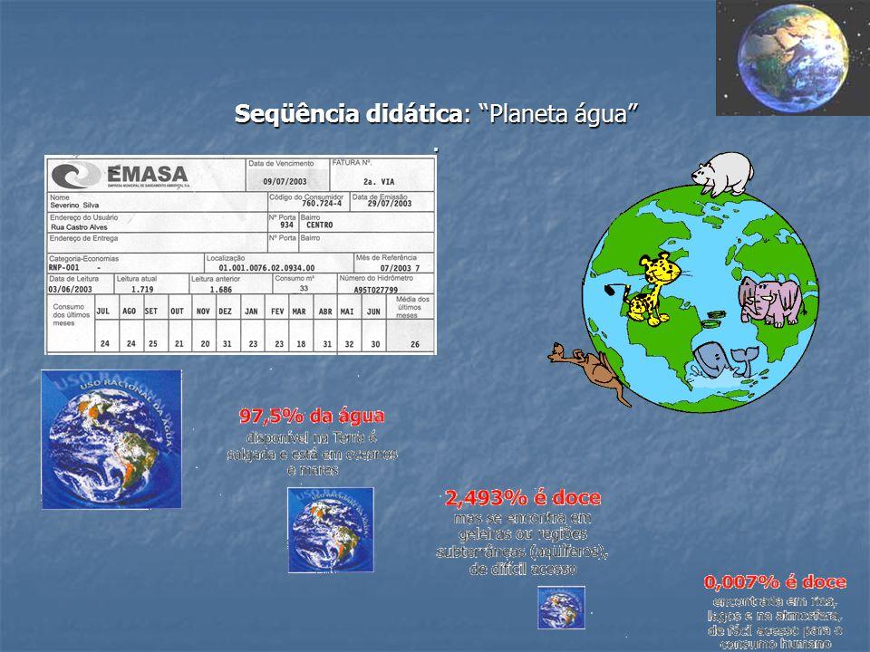 Seqüência didática: Planeta água .