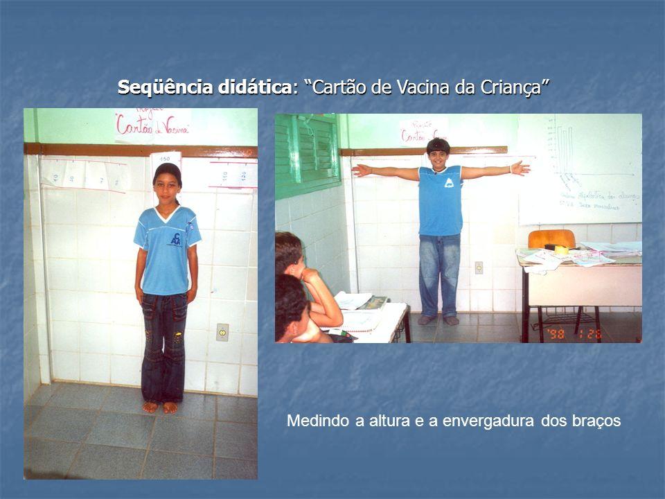 Seqüência didática: Cartão de Vacina da Criança .