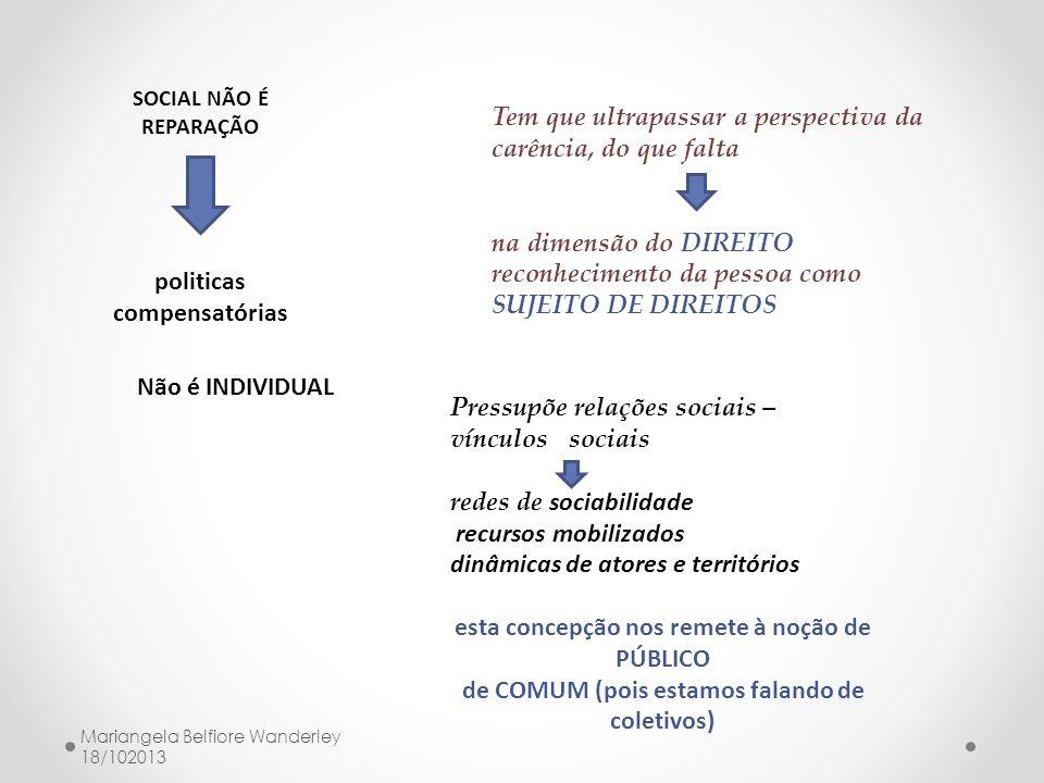 politicas compensatórias de COMUM (pois estamos falando de coletivos)