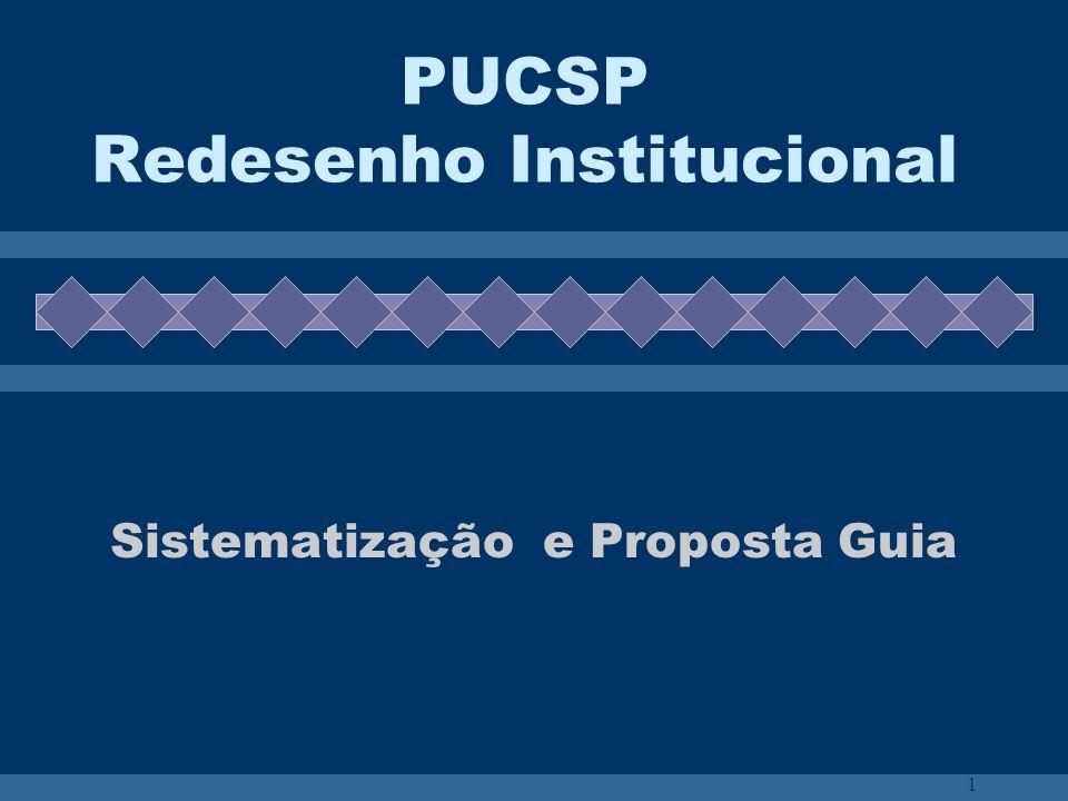 PUCSP Redesenho Institucional
