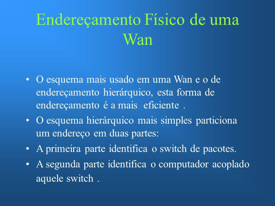 Endereçamento Físico de uma Wan